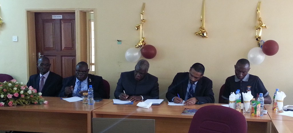 Signing of the agreement with the Copperbelt University (CBU) to host a Southern African regional node of the IAU Office of Astronomy for Development (OAD) in Zambia