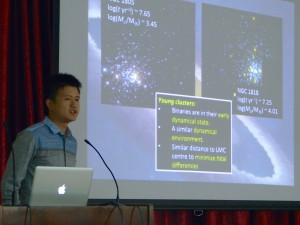 PhD student Chengyuan Li (Peking University) presenting at the conference