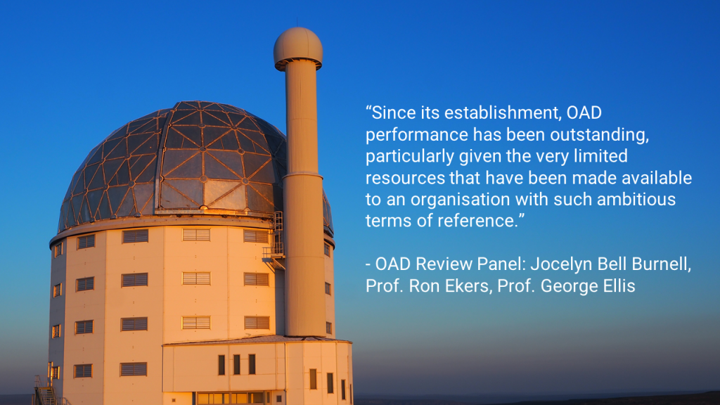 OAD review panel comment