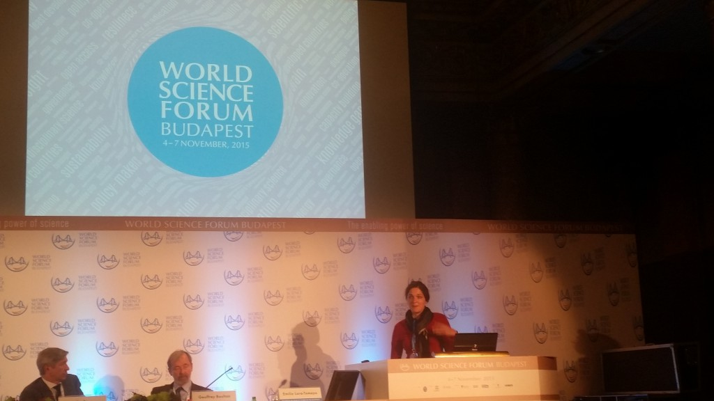 Project Officer Eli Grant at the World Science Forum, Budapest. credits: H Roman