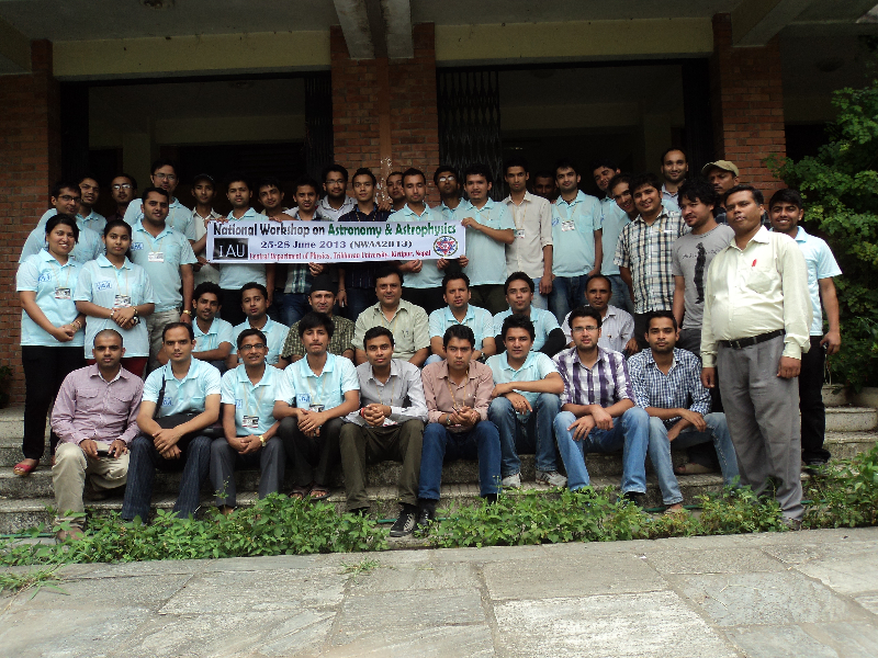 National Workshop on Astronomy & Astrophysics, Nepal, 2013. credits: NWAA