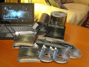 About 250 of the 1,000 CD ROMs produced. The main design pattern is also shown on the CD themselves and the front cover of the protective envelopes.