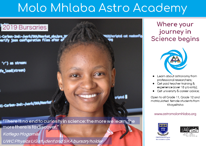astro academy for girls in Khayelitsha, Cape Town