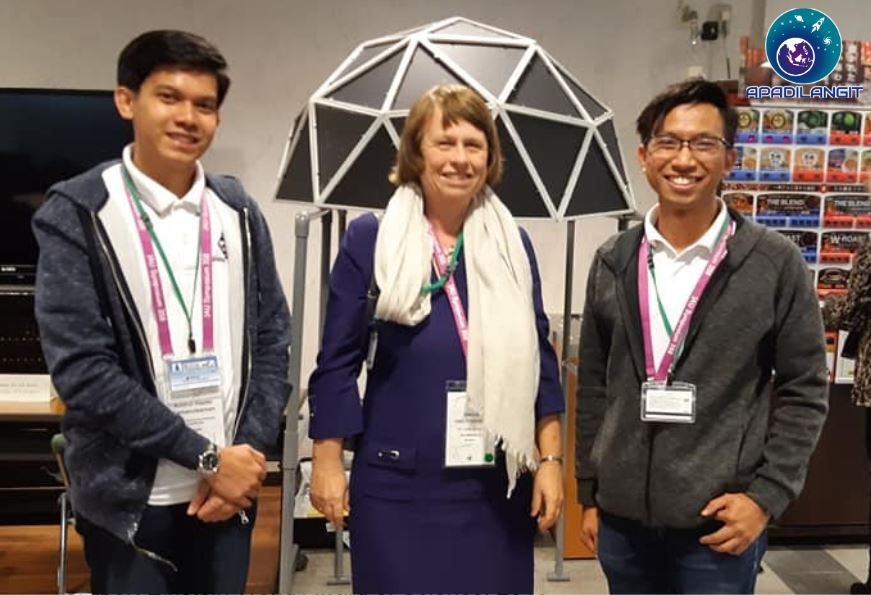project members of impact dome with IAU President