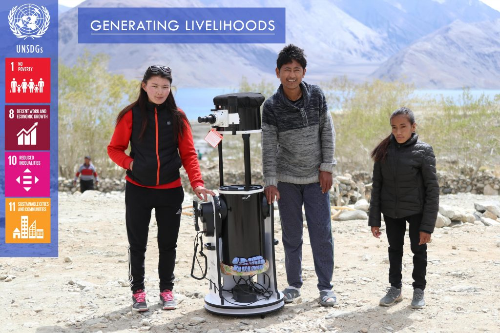 Astrotourism for Community Development project implemented in India in collaboration with Mountain Homestays and Global Himalayan Expedition
