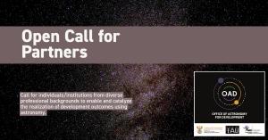 IAU OAD Call for Partners