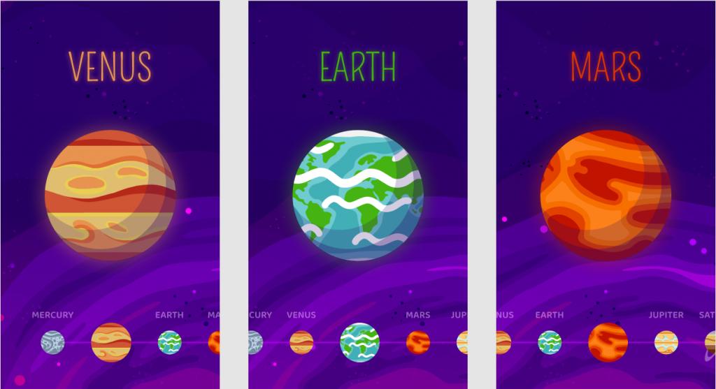Interactive Astronomy App